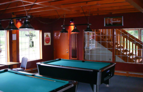 pool tables in lounge