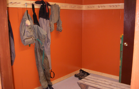 wader storage room
